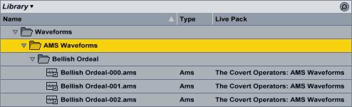 AMS Waveforms